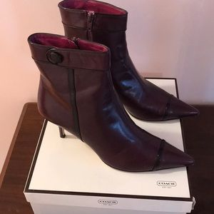 Coach 👢leather ankle boots